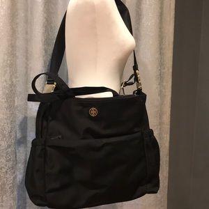 Great Condition Tory Burch Lrg Black Crossbody Bag